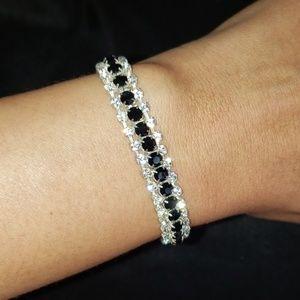 Jewelry - Cocktail CZ black and diamond bracelet